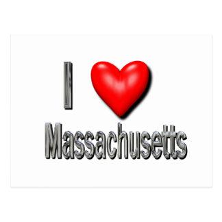 I Heart Massachusetts Postcard