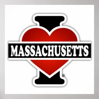 I Heart Massachusetts Poster