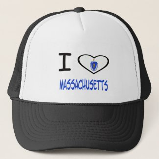 I heart Massachusetts Trucker Hat