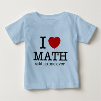 I Heart Math Baby T-Shirt