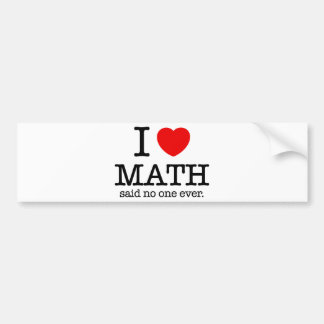 I Heart Math Bumper Sticker