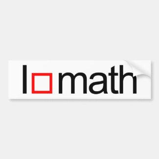 I heart math car bumper sticker