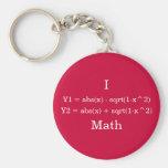 I Heart Math Key Chain