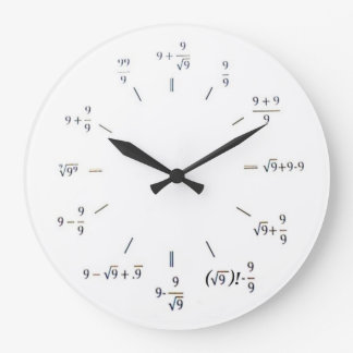 I Heart Math Large Clock