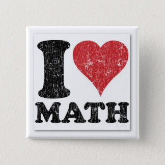 I Heart Math Pin