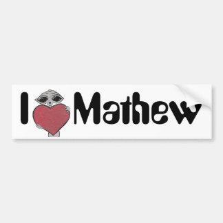 I Heart Mathew Alien Bumper Sticker
