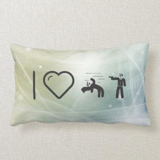 I Heart Matrixs Throw Pillows