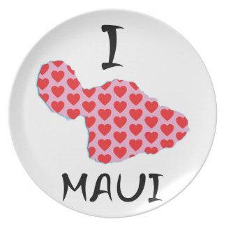 I heart Maui Dinner Plate
