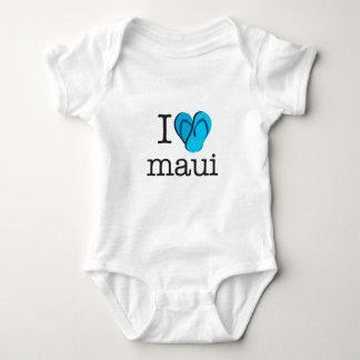 I Heart Maui Flip Flops Baby Bodysuit