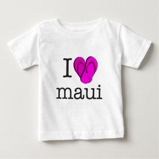 I Heart Maui Flip Flops Baby T-Shirt