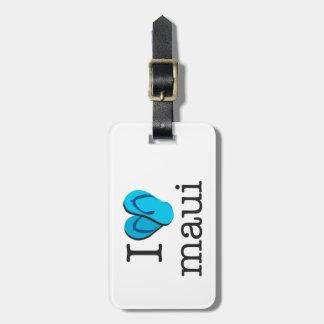 I Heart Maui Flip Flops Bag Tag
