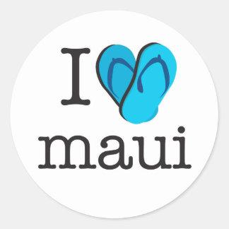 I Heart Maui Flip Flops Classic Round Sticker