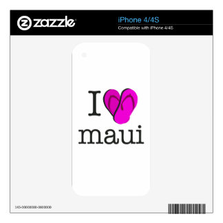 I Heart Maui Flip Flops Decals For The iPhone 4S