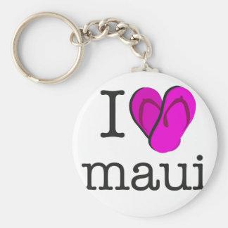 I Heart Maui Flip Flops Keychain