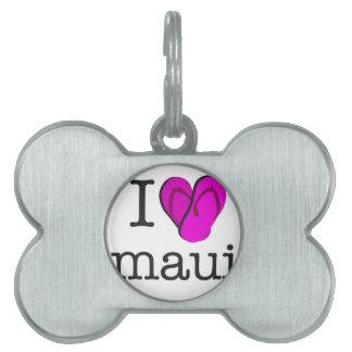 I Heart Maui Flip Flops Pet ID Tag