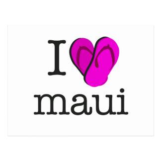 I Heart Maui Flip Flops Postcard