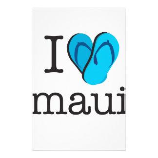 I Heart Maui Flip Flops Stationery