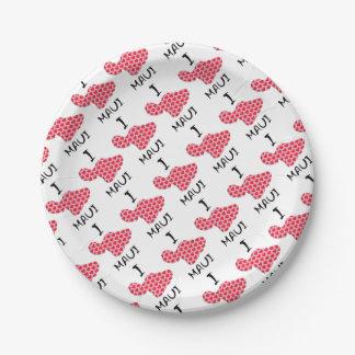 I heart Maui Paper Plate