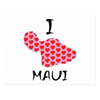I heart Maui Postcard