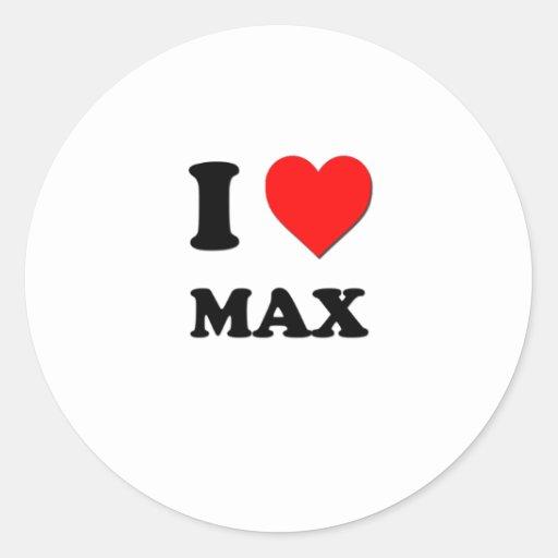 I Heart Max Round Sticker