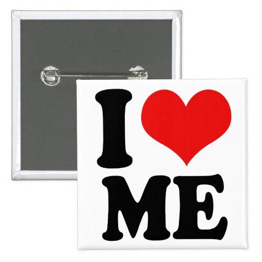 I Heart Me 2 Inch Square Button
