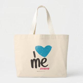I Heart Me Aqua Large Tote Bag