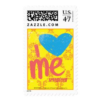 I Heart Me Aqua-Pink Postage Stamp