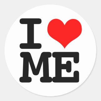 I Heart Me Classic Round Sticker