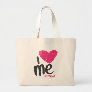 I Heart Me Magenta Large Tote Bag