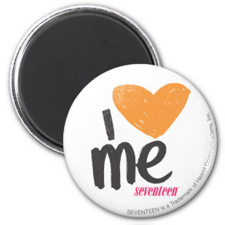 I Heart Me Orange 2 Inch Round Magnet