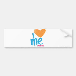 I Heart Me Orange/Aqua Bumper Sticker