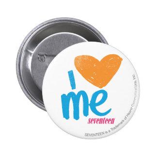I Heart Me Orange/Aqua Pinback Button