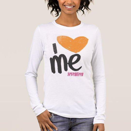 I Heart Me Orange Long Sleeve T-Shirt