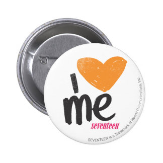 I Heart Me Orange Pinback Button