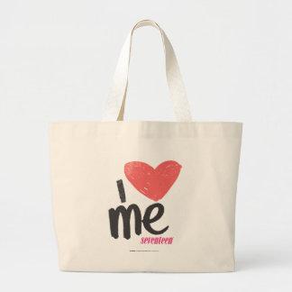 I Heart Me Pink Large Tote Bag