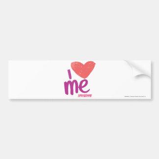 I Heart Me Pink/Purple Bumper Sticker