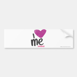I Heart Me Purple Bumper Sticker