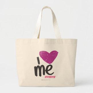I Heart Me Purple Large Tote Bag