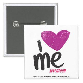 I Heart Me Purple Pinback Button