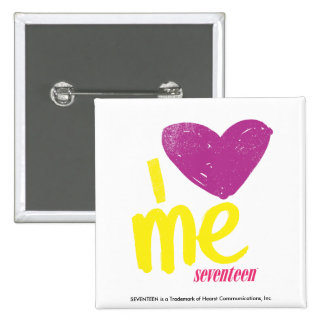 I heart Me Purple/Yellow Button