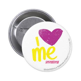 I heart Me Purple/Yellow Pinback Button