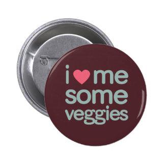 I Heart Me Some Veggies Button