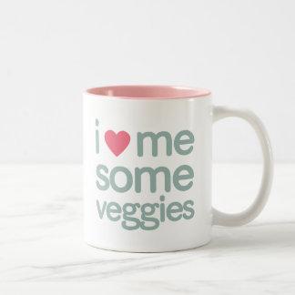 I Heart Me Some Veggies Two-Tone Coffee Mug
