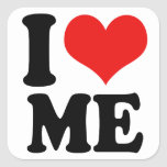 I Heart Me Square Stickers