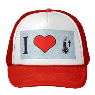 I Heart Measuring Ascending Temperature Trucker Hat