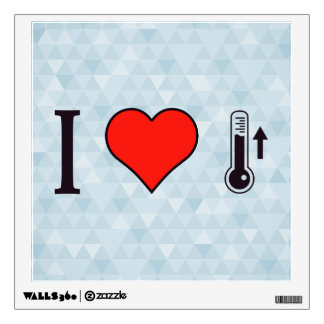 I Heart Measuring Ascending Temperature Wall Sticker