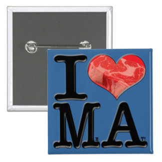 I heart MeAt Pinback Buttons