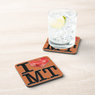 I heart MeaT Beverage Coasters