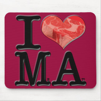 I (heart) MeAt Mouse Pads