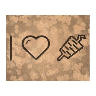 I Heart Meats Photo Cork Paper